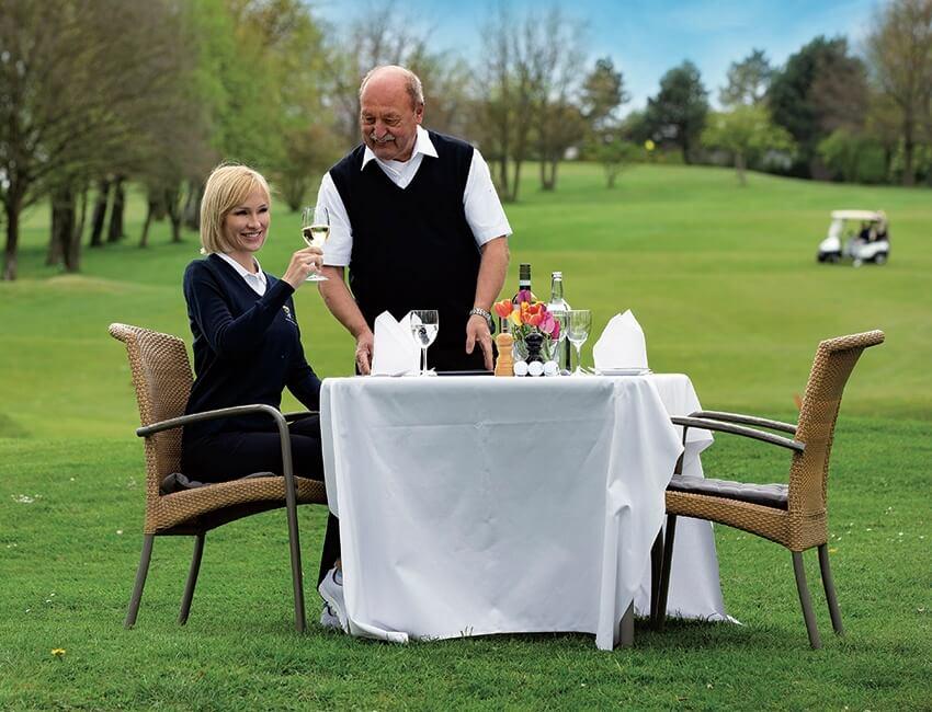 Tolle Gastronomie am Golfplatz.