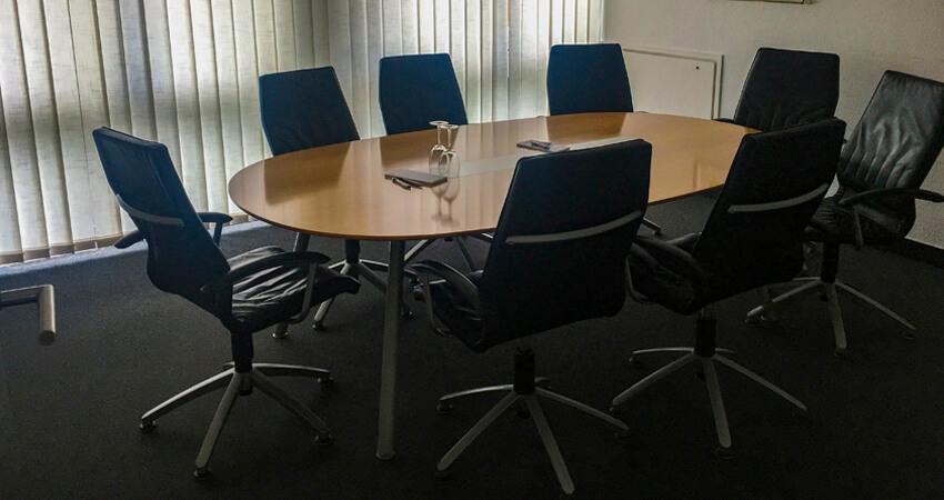 Konferenzraum im Clubhaus des GC Essen-Heidhausen.